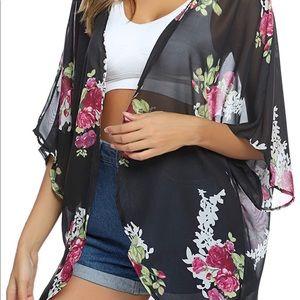 Kimono/Swimsuit over piece